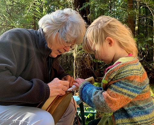 Make a Granddaughter drum